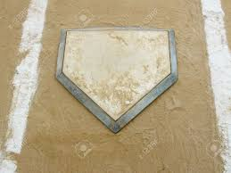 Home Plate by Close Up Of Home Plate On A Municipal Baseball Diamond Stock Photo