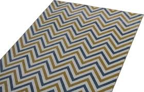 blue and yellow chevron rug contemporary area rugs by cozy rugs