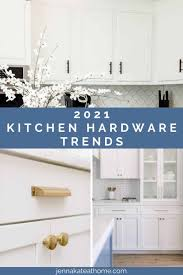 white kitchen cabinets with black knobs kitchen hardware trends 2021 kate at home