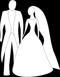 clipart bride and groom