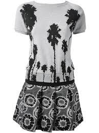 christian pellizzari tree print dress in gray lyst
