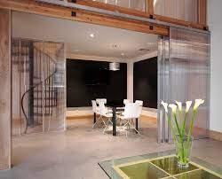 san francisco interior sliding glass dining room modern with white