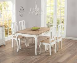 buy the parisian 130cm shabby chic dining table with chairs at oak