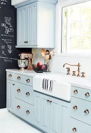 light blue kitchen ideas countertops backsplash farmhouse kitchen sink black board for