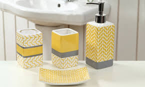 Bathroom Accessories Sets Phenomenal Yellow Bathroom Sets Accessories Bath Set Rug Mat And