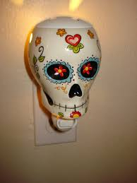 halloween candle warmers day of the dead sugar skull night light scent warmer wall my