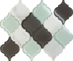sample glass stone arabesque moroccan pattern mosaic tile kitchen