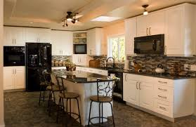 White Kitchen With Black Island Wonderful Kitchens With Black Appliances And White Cabinets Find