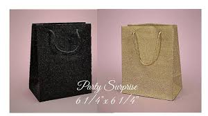 wedding gift bags gift bags black and gold glitter gift bags tote bags