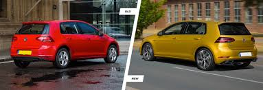 volkswagen hatch old 2017 vw golf mk7 facelift old vs new compared carwow