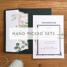 Wedding Stationery Sets Contemporary Wedding Stationery