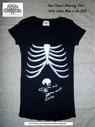 Maternity Skeleton Halloween Costumes by Small Ninja Baby Skeleton Maternity Tee Shirt Hand Painted