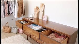 fall declutter begins wardrobe u0026 dresser organization youtube