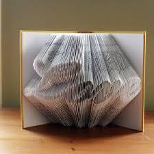 folded book art love anniversary gifts boyfriend gift for