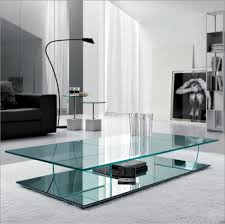Shelf Designs Furniture Contemporary Glass Coffee Tables Ideas Clear Low