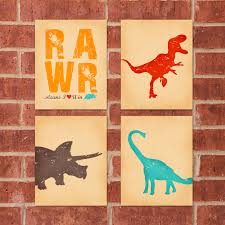Dinosaur Home Decor by Dinosaur Print 8x10 Rawr Bundle Buy 3 Get 1 Free 30 00
