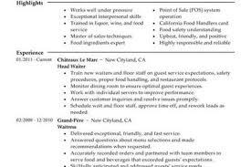 Restaurant Server Resume Samples by Sample Server Resume Examples Resume For Server Experience