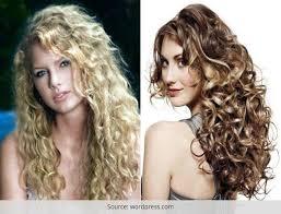 perm hair style for fine layered hair long permed hairstyles hair