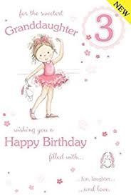age 3 granddaughter birthday card amazon co uk kitchen u0026 home
