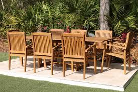sale 95in rectangular table u0026 8 pacific chairs teak set oceanic