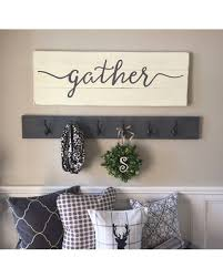 signs and decor big deal on gather sign rustic wall decor wall decor gather wood