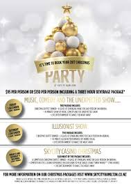 celebrate your christmas party at skycity hamilton