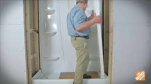 How To Install A Shower Door On A Bathtub How To Install A Direct To Stud Shower Enclosure Bath How To
