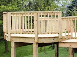 wood deck railings house design and planning