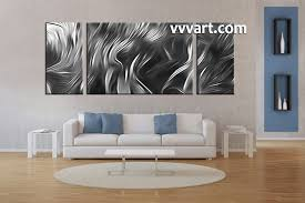 Large Artwork For Wall by 3 Piece Canvas Abstract Grey Artwork