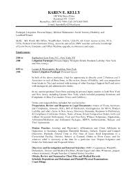 Example Of Paralegal Resume by 28 Personal Injury Paralegal Resume Sample Perfect Legal Resume