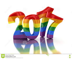 pride color new year 2017 stock illustration image 78462746