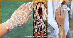 white henna designs 2016 temporary tattoos on skin life with style