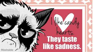 grumpy cat valentines i like candy hearts they taste like sadness grumpy cat