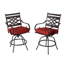 patio bar furniture sets hampton bay middletown patio motion balcony chairs with chili