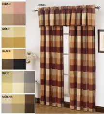 Typical Curtain Sizes by Curtains United Curtain Plaid Straight Valance Curtain Valance
