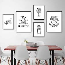 black and white prints for kitchen minimalist kitchen posters and prints modern black and white wall pictures nordic dining room canvas painting home decor