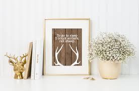 Deer Nursery Decor To Go To Sleep I Count Antlers Not Sheep Wood Deer Antlers