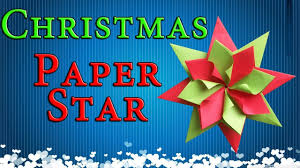 easy paper christmas decorations origami star new year party