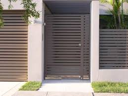 Patio Door Security Gate For Residential Applications Modern Private Entry Gated Entry Pinterest Steel Gate Design