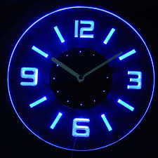 beautiful wall clock with led light 40 about remodel light up wall