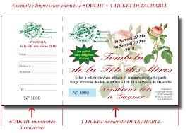 tombola mariage tickets de cantine impression tickets de tombola