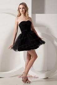 puffy black short organza litle black dress with beadwork short
