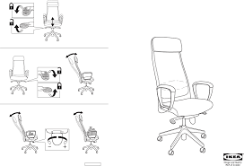 Markus Chair Download Ikea Markus Swivel Chair Assembly Instruction For Free