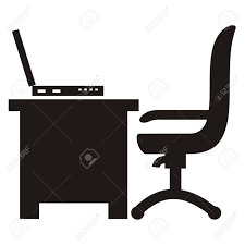 Laptop Desk Chair by Workroom Chair Desk And Laptop Icon Royalty Free Cliparts