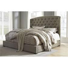 ashley gerlane queen sleigh bed in graphite b657 74 77 kit
