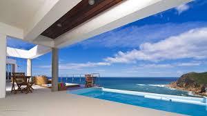 houses pool overlooking beach house sea desktop wallpapers
