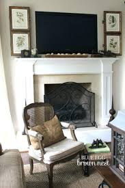 living room ideas conceal tv wires over fireplace hidden cabinet
