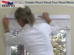 Installing Window Blinds Outside Mount How To Install Wood And Fauxwood Blinds Outside Mount Blinds