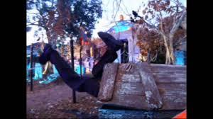 Halloween Hangman Skeleton Game Animated Kicking Legs Prop Motorized Halloween Decoration Youtube