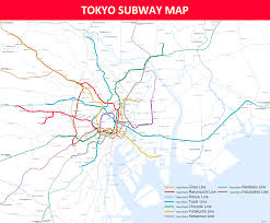 Tokyo Subway Map by Tokyo Subway Map Lines Stations And Interchanges